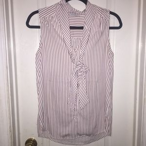 Tops - red striped tie top